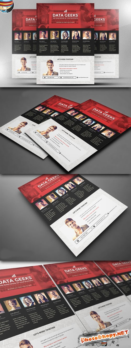 CreativeMarket - Data Geeks Flyer Template