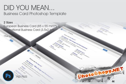 CreativeMarket - Did You Mean… Business Card Template
