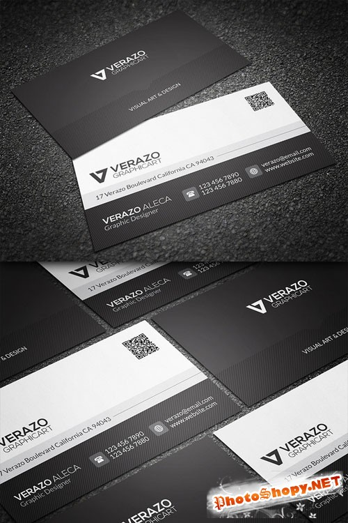 CreativeMarket - Black & White Business Card