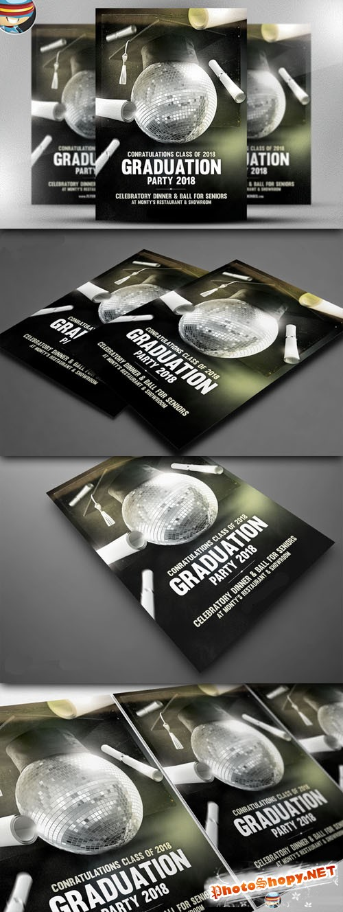 CreativeMarket - Graduation Flyer Template