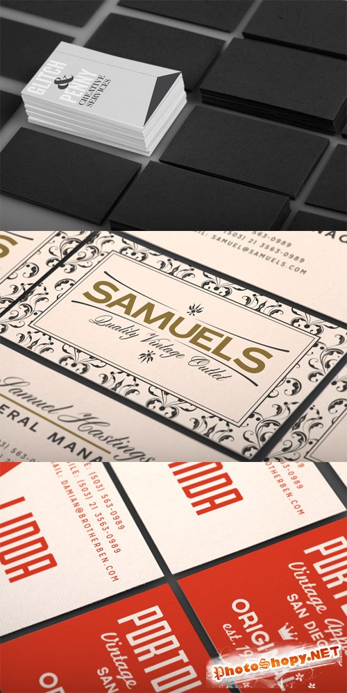 Realistic Business Card Mockup Vol 3
