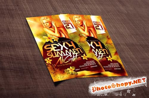 CreativeMarket - Summer Flyer Template PSD