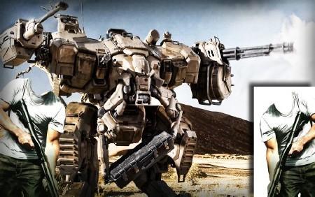 Многослойный Фотокостюм для фото - Атакующий робот