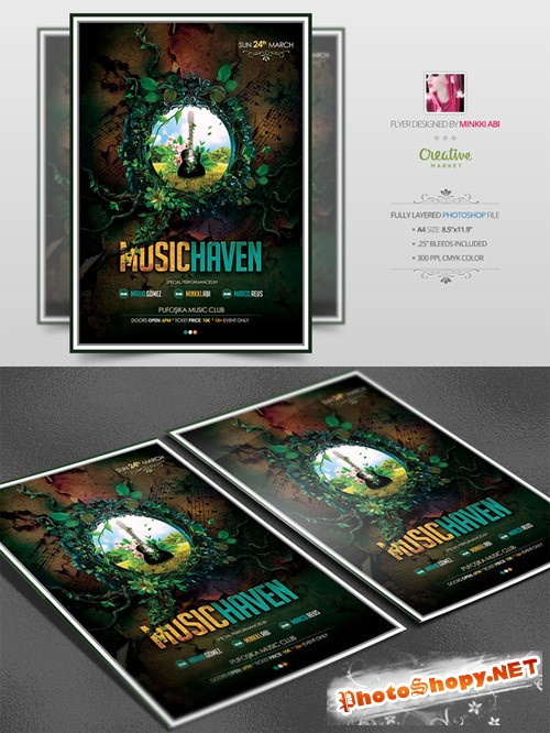 Template PSD - Music Haven Flyer