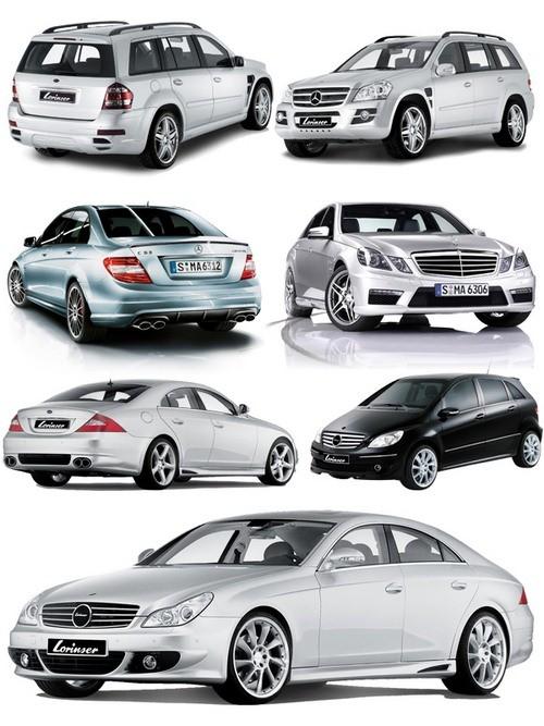 Автомобили марки MERCEDES - BENZ (прозрачный фон)