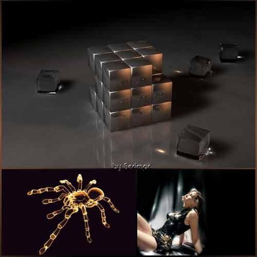 Многообразные предметы на красивом черном фоне