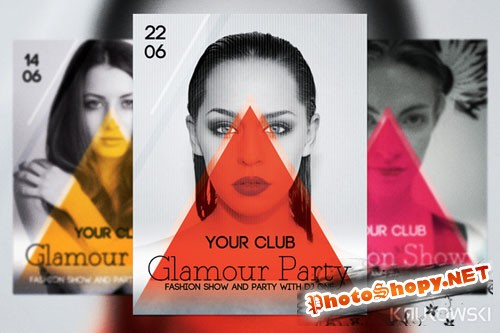 CreativeMarket - Glamour Party Flyer