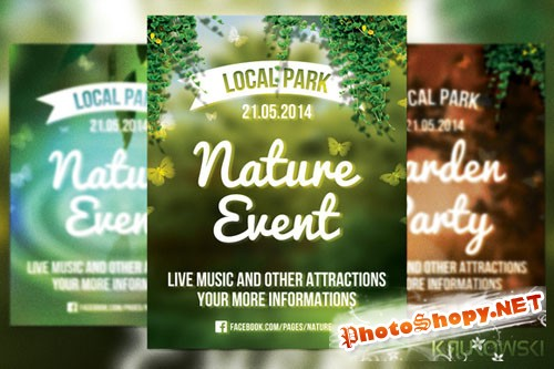 CreativeMarket - Nature Event Flyer 18177