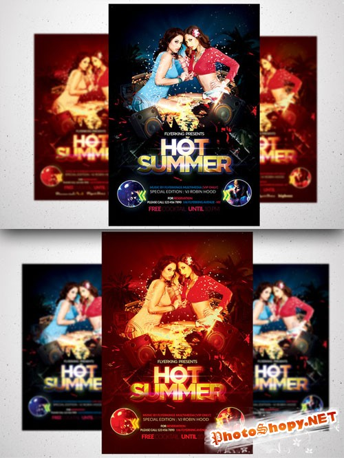 CreativeMarket - Summer Hot Flyer