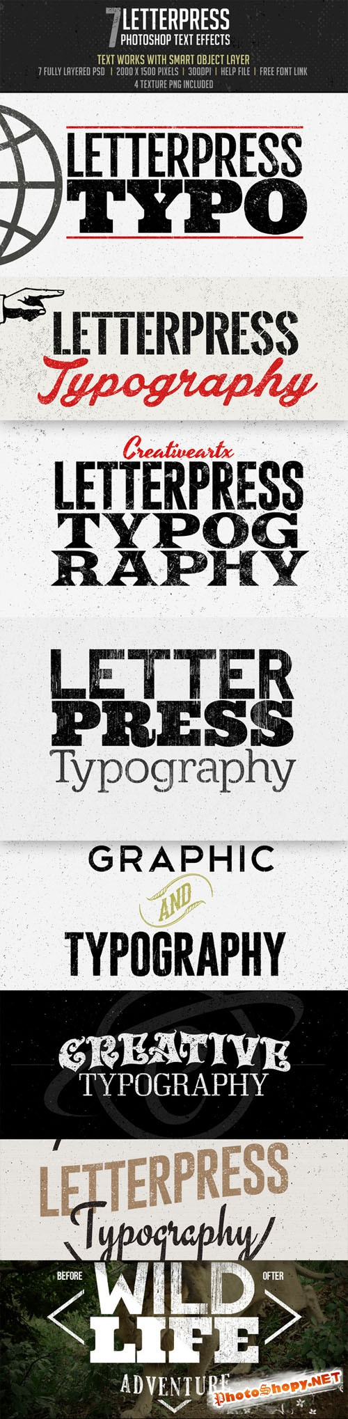 CreativeMarket - Letterpress -Photoshop Effects