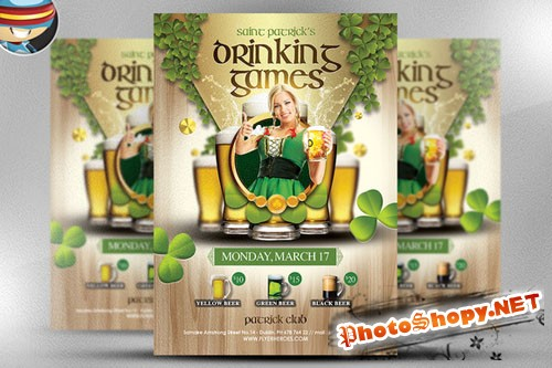 CreativeMarket - St. Patrick's Day Drinking Games
