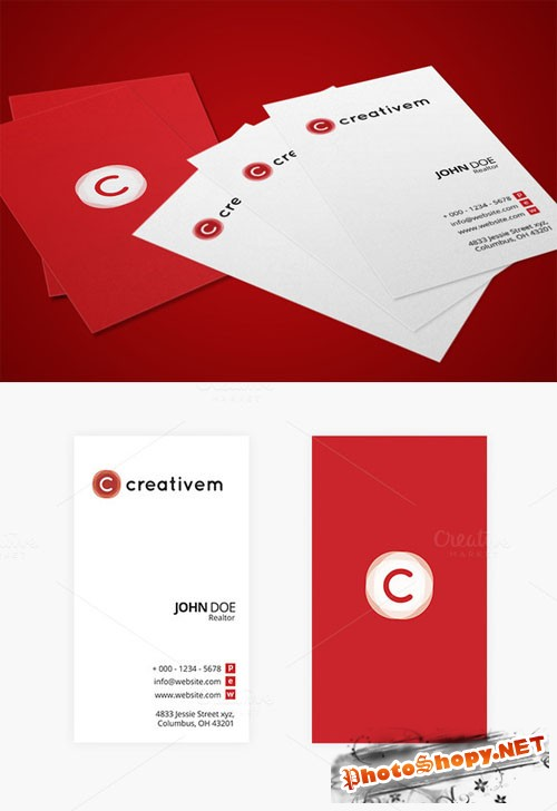 CreativeMarket - Minimal Business Card Template 1