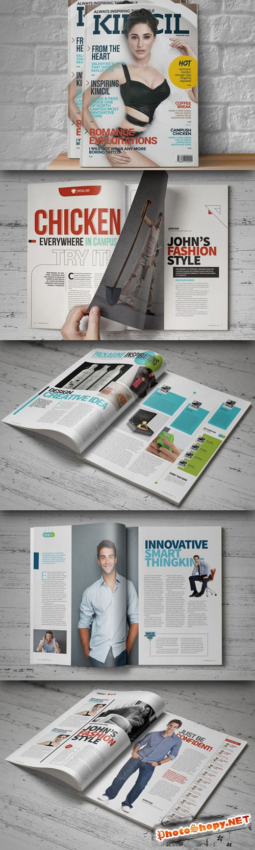 CreativeMarket - InDesign Magazine Template 21894