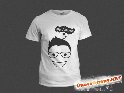 CreativeMarket - Tshirt- Hey, i like you!