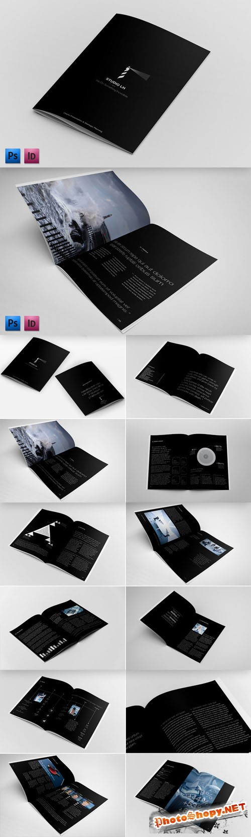 CreativeMarket - Annual Report & Brochure Template