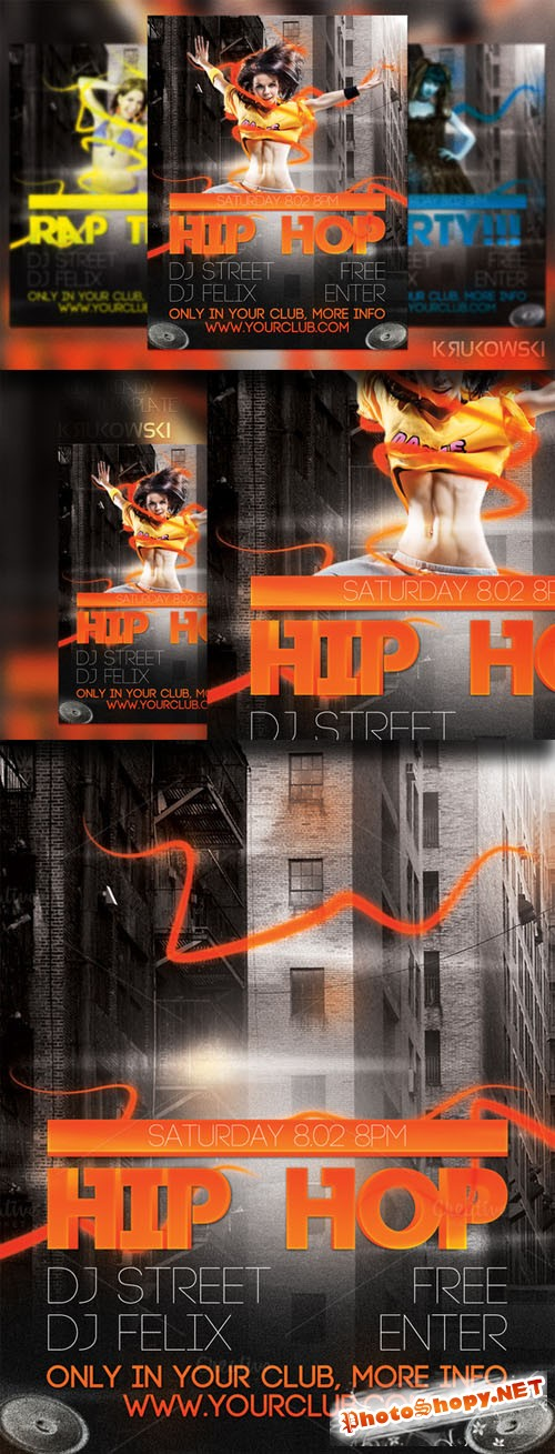 CreativeMarket - HIP HOP Flyer 21431