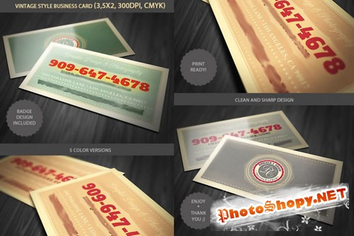 Vintage Business Card PSD template