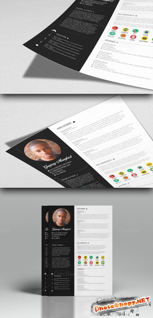 CreativeMarket - Wild West CV Template