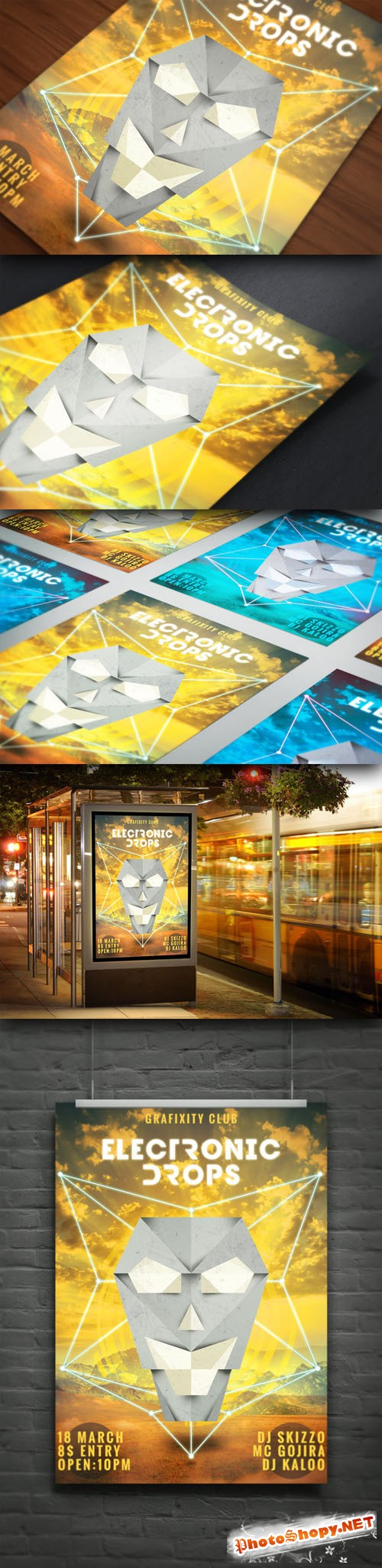 CreativeMarket - Electronic Music Poster