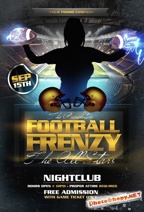 Football Flyer Template PSD