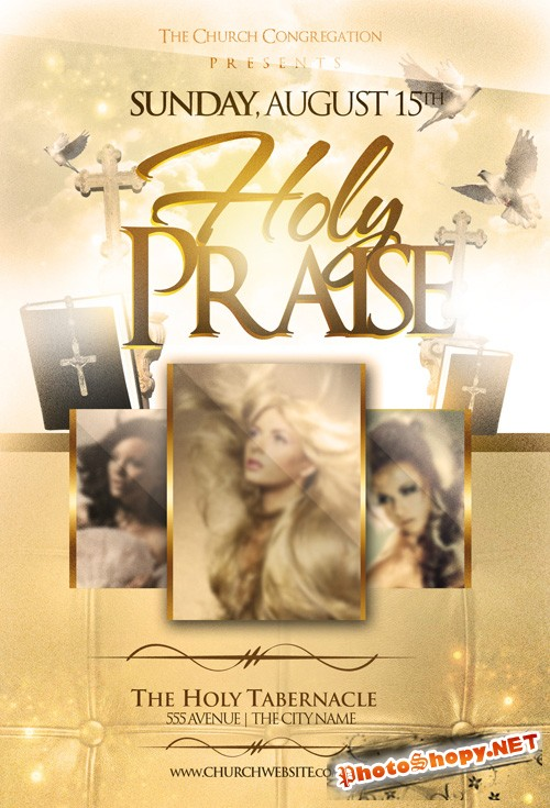 Flyer Template - Holy Praise
