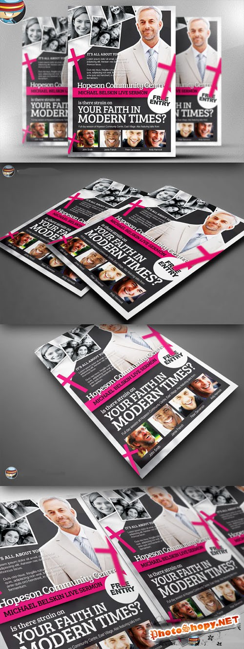 CreativeMarket - Modern Church Flyer Template
