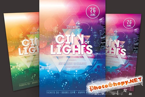 CreativeMarket - City of Lights Flyer 44072