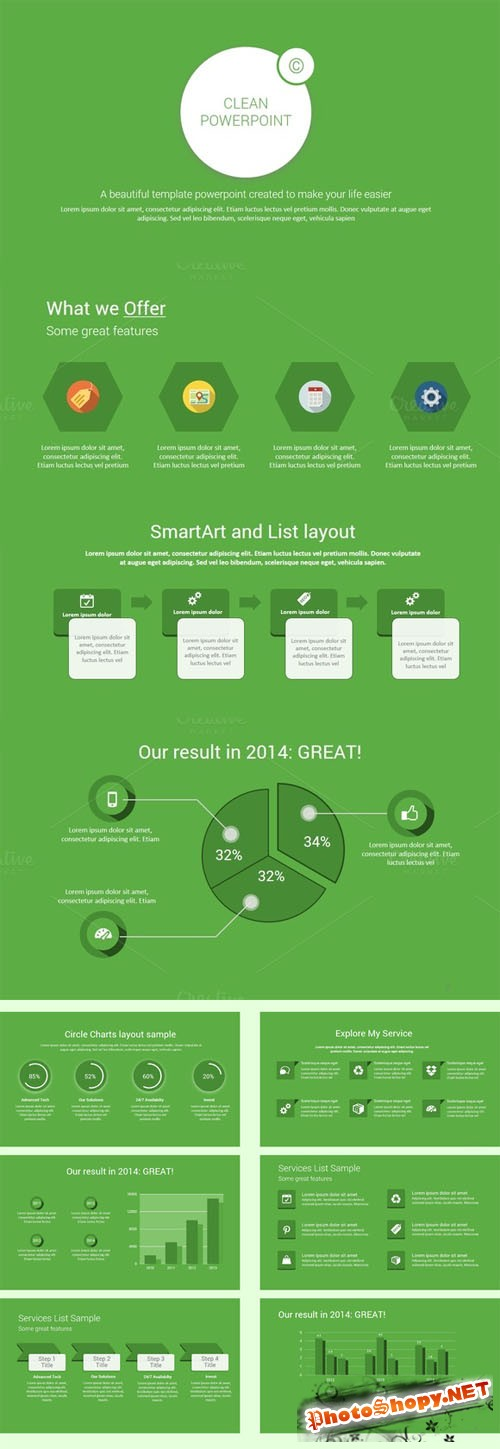 CreativeMarket - GREEN Powerpoint Template