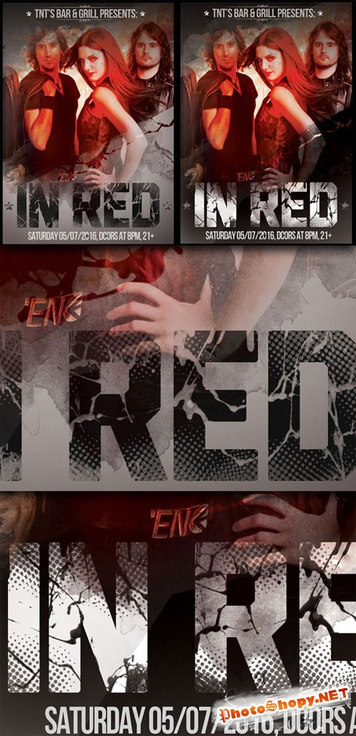 "CreativeMarket - Event Flyer ""Red"""