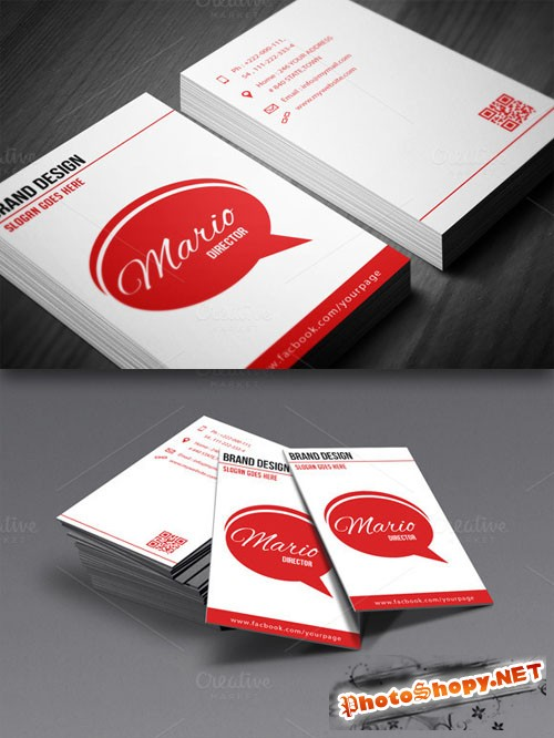 CreativeMarket - Social Business Card