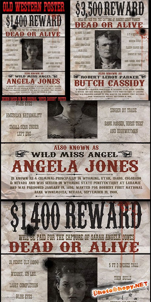 "CreativeMarket - Vintage ""Wanted"" Poster"