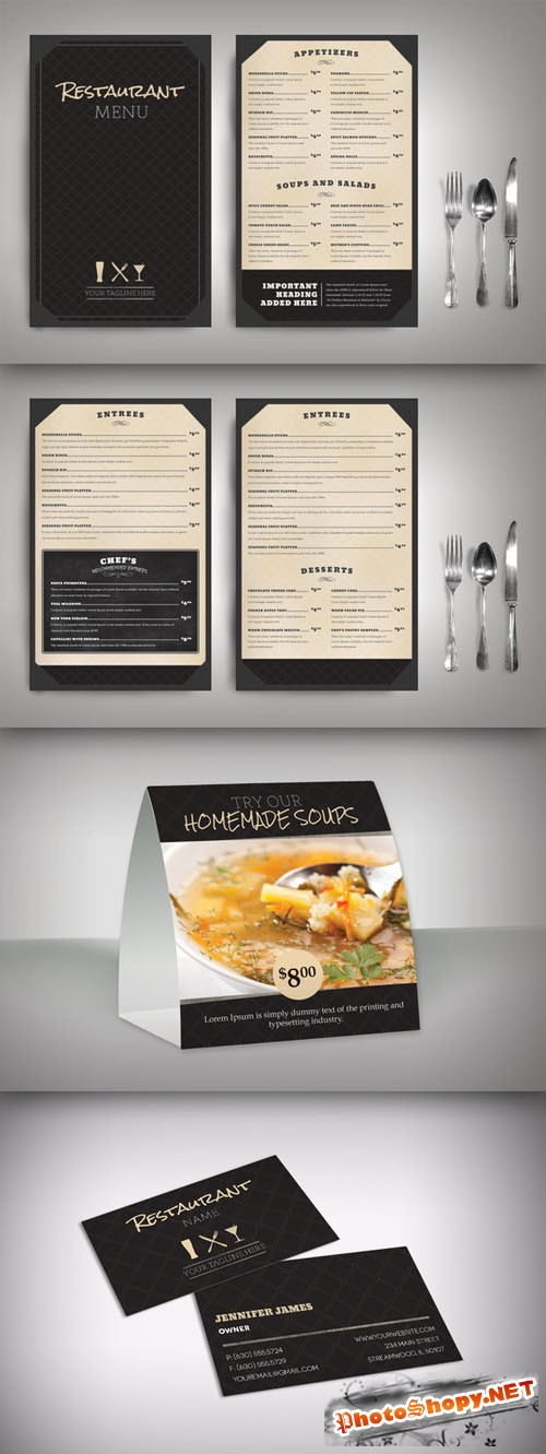 CreativeMarket - Restaurant Menu Classic (Package)