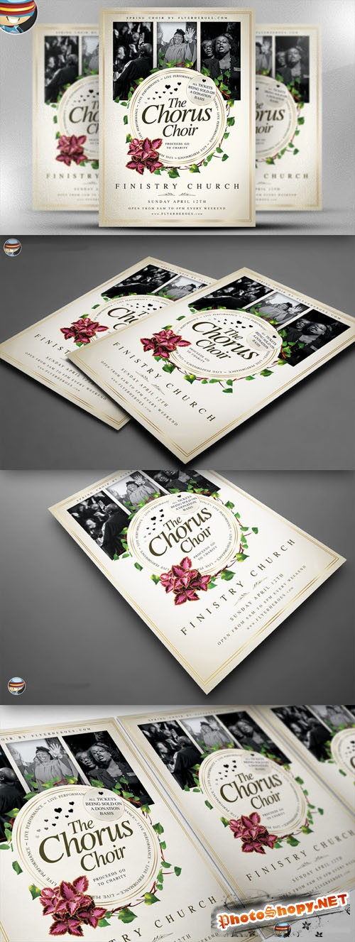 CreativeMarket - Chorus Choir PSD Flyer Template