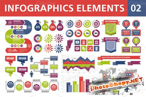 CreativeMarket - Infographics Elements 02