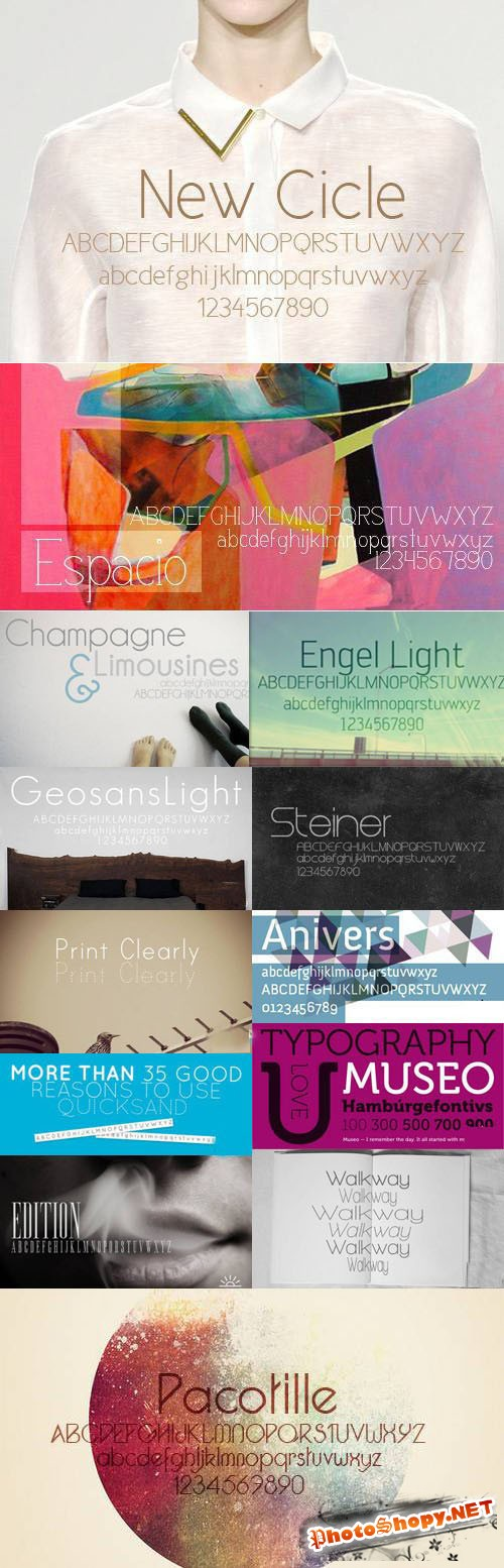 30 Sleek Minimalist Designs Fonts Collection