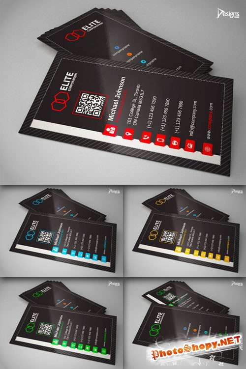 CreativeMarket - Business Card 7 - Ai and EPS Vector Template