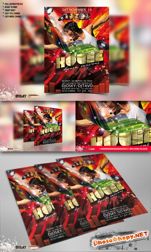 CreativeMarket - House Party Flyer 50644