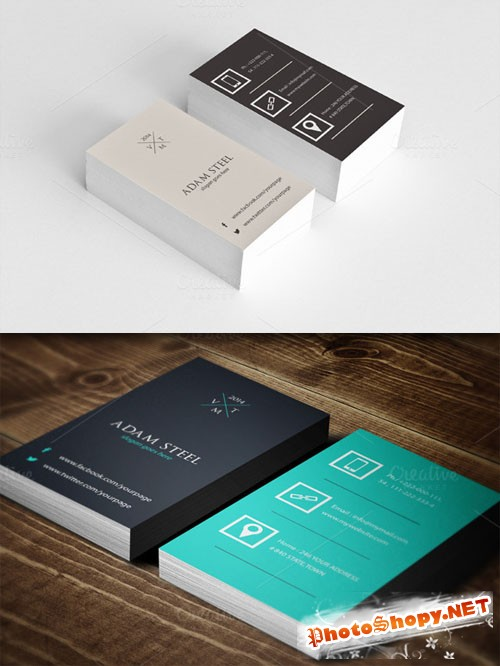 CreativeMarket - Vintage Flat Business Card