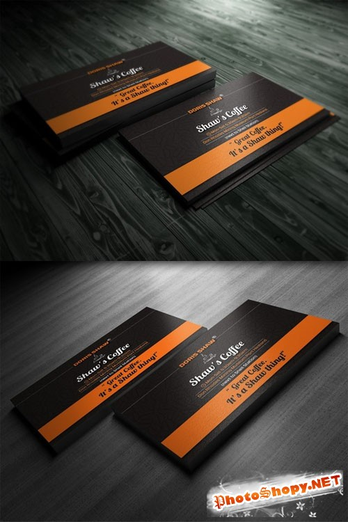 CreativeMarket - Shaw's Coffe Business Card