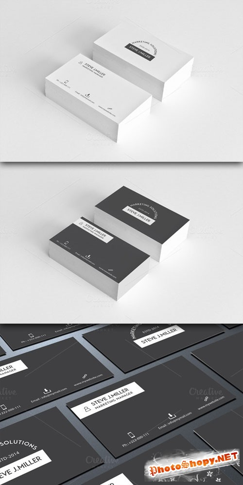 Creativemarket - Minimal Business Card vol.4
