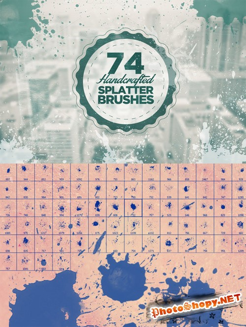 74 Splatter Photoshop Brushes