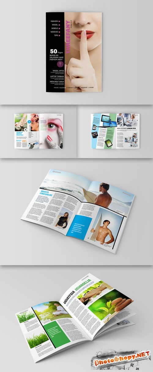 CreativeMarket - Magazine/Editorial Template 08