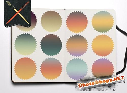 CreativeMarket - Retro Colors Gradients 22023