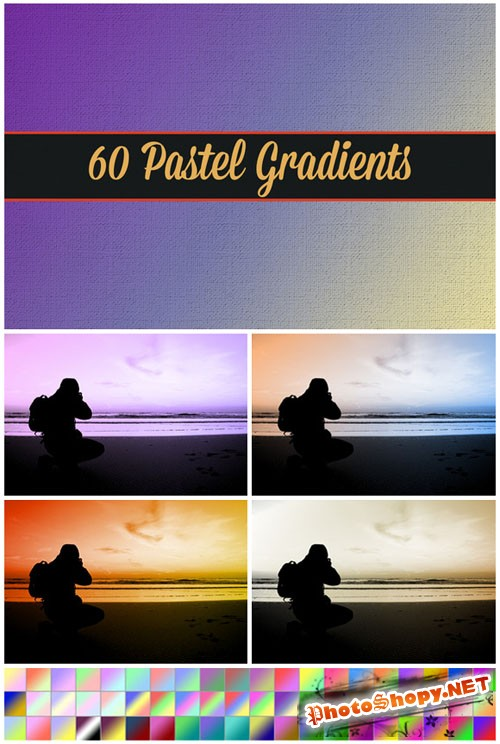 CreativeMarket - 60 Pastel Gradients 21328