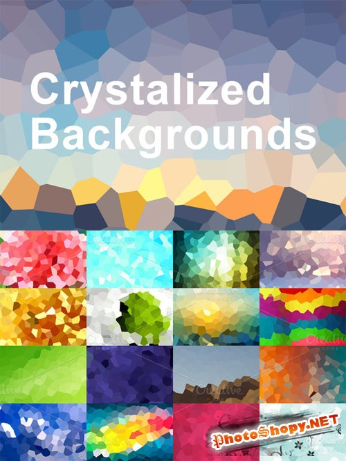 CreativeMarket - Crystalized Backgrounds 15161