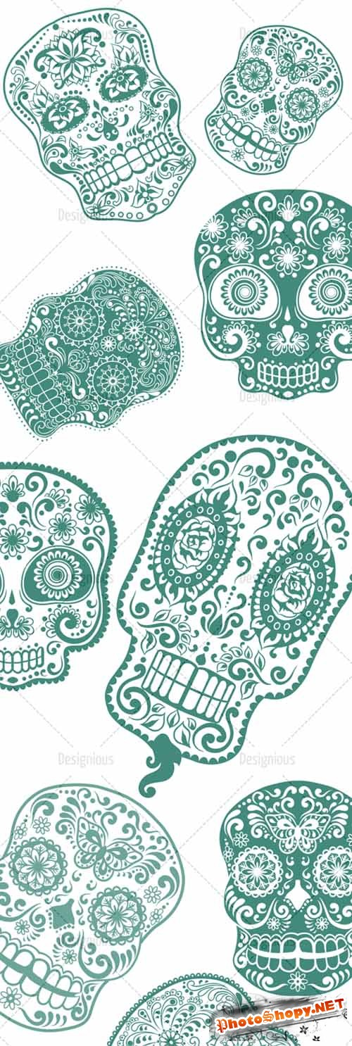 Photoshop Brushes Sugar Skulls 9