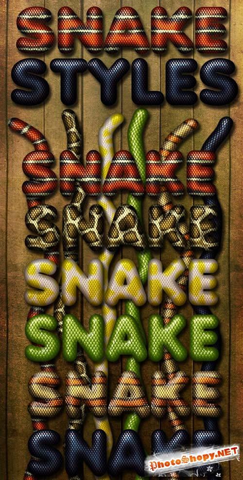 Photoshop Styles - Snake