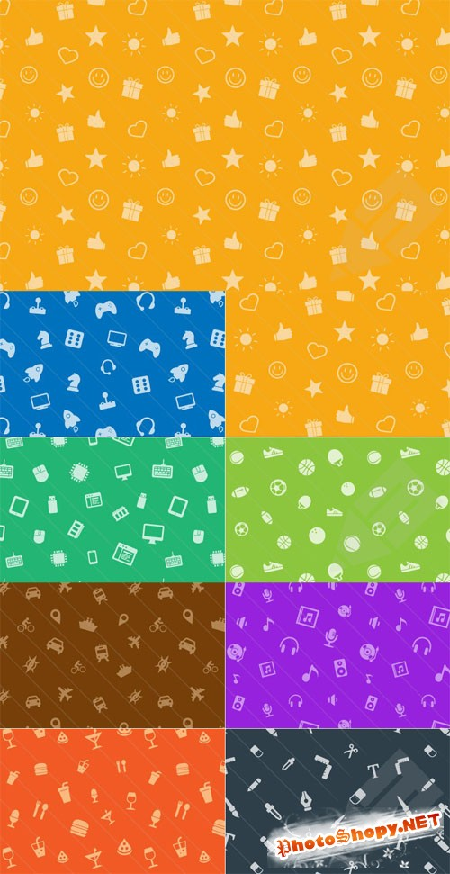 Seamless Icon Photoshop Patterns