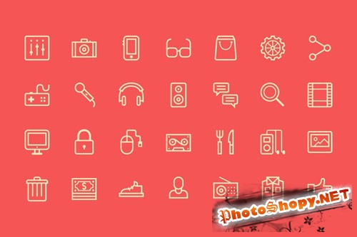 CreativeMarket - Outline Live Icons 26790