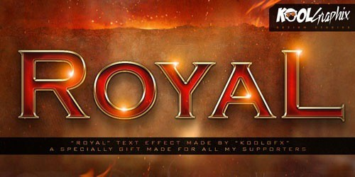 Royal Text Effect Style PSD Template